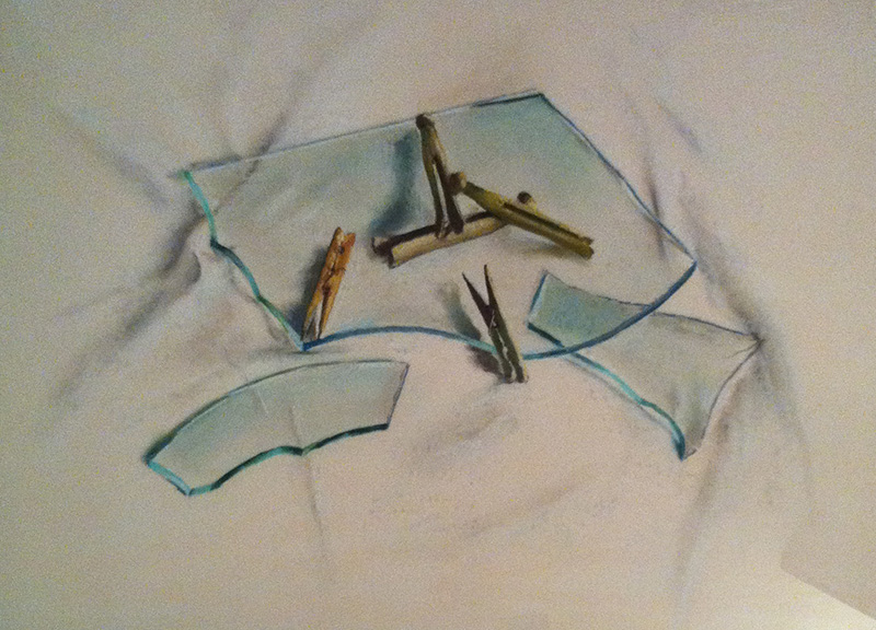 Clothes Pins On Glass