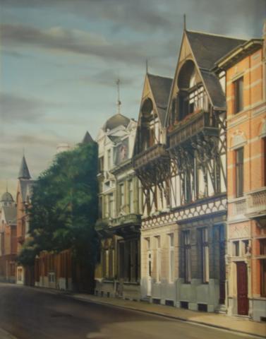 Street in Antwerp (Belgium)
