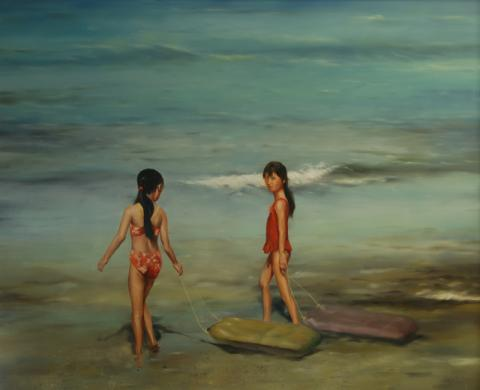 Hawaiian Girls at the Beach